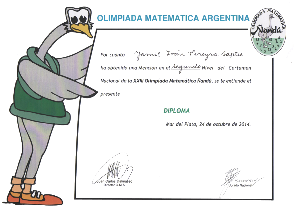 diploma-ñandú
